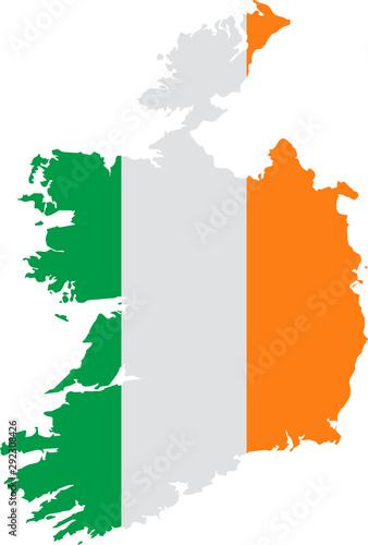 map of Ireland Wallpaper Mural