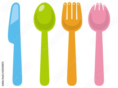 Fototapeta スプーンとフォークとナイフ obraz