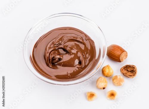 Fotografia, Obraz Cioccolata da spalmare con nocciole