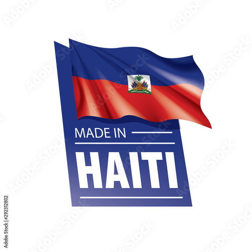 Tablou Canvas Haiti flag, vector illustration on a white background