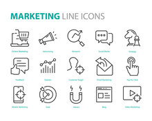 Set Of Marketing Icons, Seo, A...