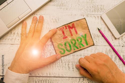 Handwriting text I M Sorry Canvas Print