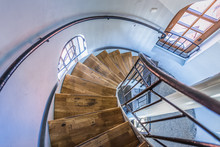 Stairs In Baltic Sea Lighthouse In Ustka Town, Poland