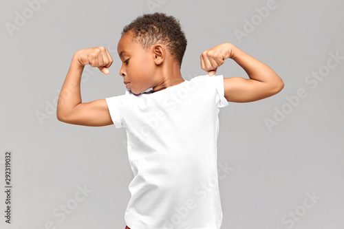 Leinwand Poster Children, fitness and bodybuilder concept