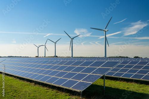 Fotomural  Wind turbine energy generaters on wind farm