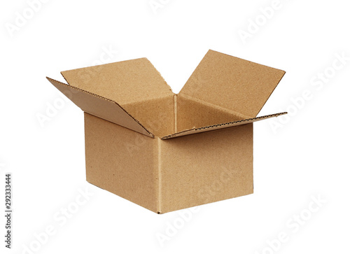 Obraz Opened craft cardboard box - fototapety do salonu