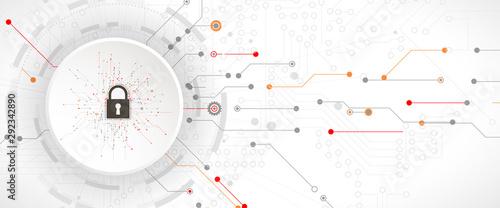 Fototapeta  internet digital security technology concept for business background