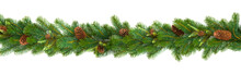 Garland With Green Fir Branche...