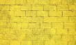 canvas print picture - monochrome yellow block wall