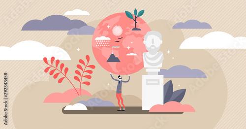 Canvastavla Stoic vector illustration