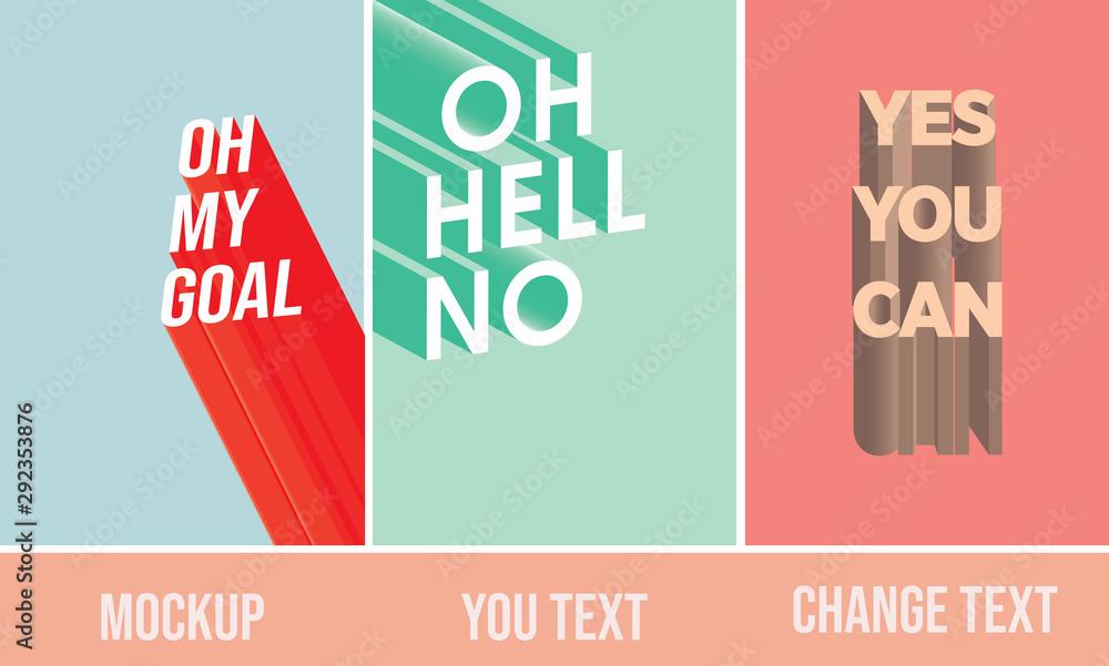 Fototapeta illustrator text mockup/Poster/social media