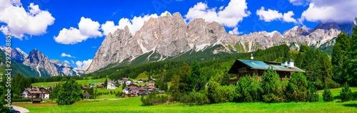 Breathtaking Alpine scenery, Dolomite mountains Fototapet
