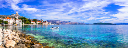 Idyllic coastal villages in Croatia. Kastella in Dalmatia.Kastel Stafilic  village - 292364027