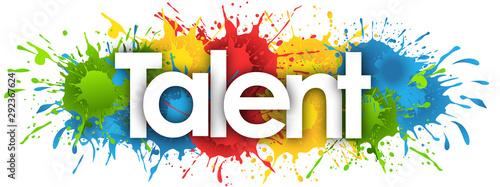 Obraz na plátně Talent Show in splash's background