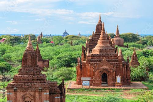 views of temple ruins of bagan, myanmar Wallpaper Mural