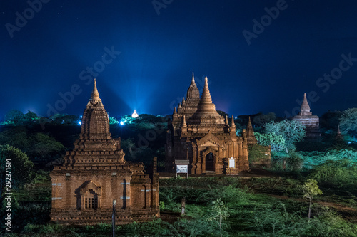 views of temple ruins of bagan, myanmar Canvas Print