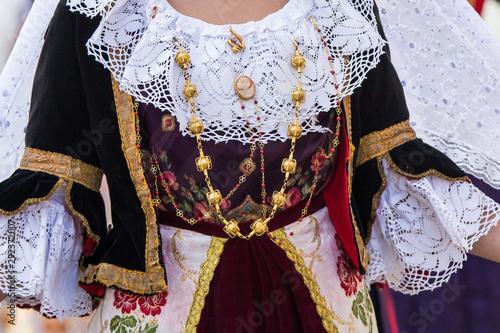Photo  SELARGIUS, ITALIA - SETTEMBRE 8, 2019: 59^ Edizione dell'Antico sposalizio selar
