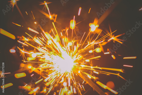 Photo Burning Colorful Fire Sparkle
