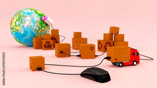 spedycja biznes transport - fototapety na wymiar