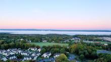Cloudy Fog Filled Hudson Valley Dawn