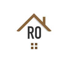 Initial Letter RO Building Logo Vector Design Template. Real Estate Logo