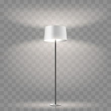 Modern Floor Lamp On Transpare...