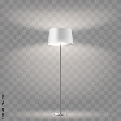 Modern floor lamp on transparent background Canvas Print