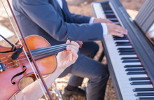 Violin And Piano Musical Duo P...