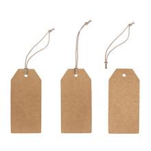 Set Of Blank Cardboard Tags Is...
