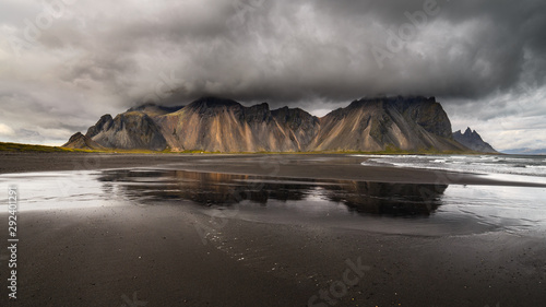 Wall Murals Northern Europe Vestrahorn mountain on Stokksnes cape in Iceland