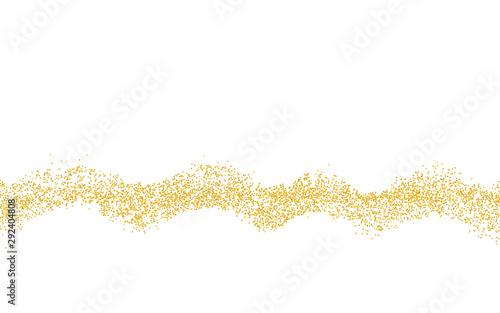 Horizontal wavy strip sprinkled with crumbs golden texture Fototapet