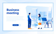 Business Meeting Web Page Desi...