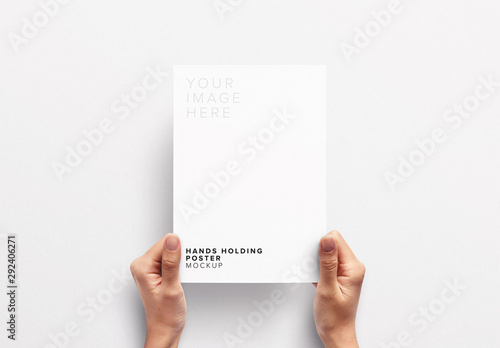 Hands Holding Paper Mockup Buy This Stock Template And Explore
