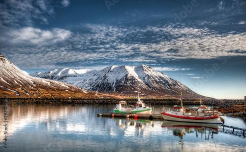 Fotografie, Obraz Fishing port in Olafsfjordur - Iceland