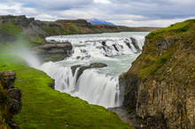 Long Exposure Photo Of Gullfoss Waterfall