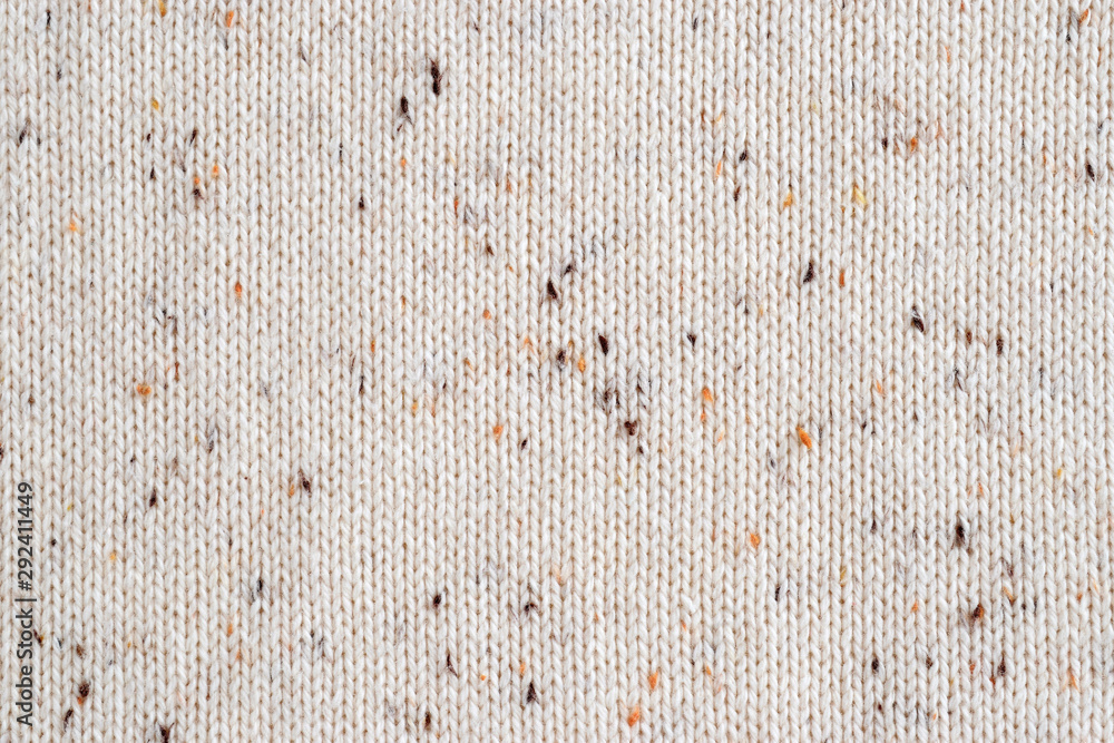 Fototapety, obrazy: Beige melange fabric knitted texture background. Cotton jersey.