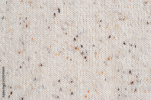 Beige melange fabric knitted texture background. Cotton jersey. Canvas Print