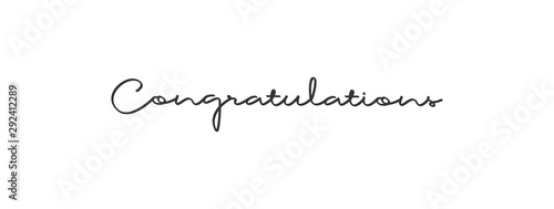 Fotografía  Congratulations calligraphy