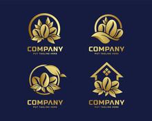 Gold Premium Coffee Logo Template