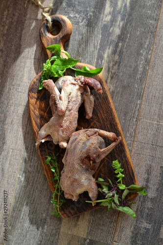 Fotografia, Obraz Wild hunting fowls in cooking
