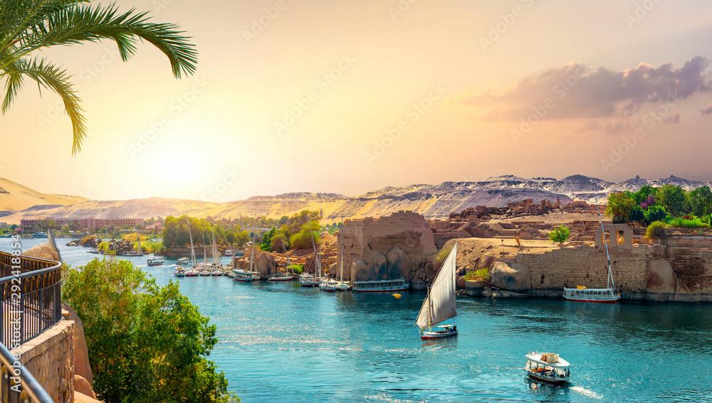 Fototapeta Panorama of Nile