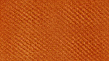 Orange Woven Fabric Texture. T...