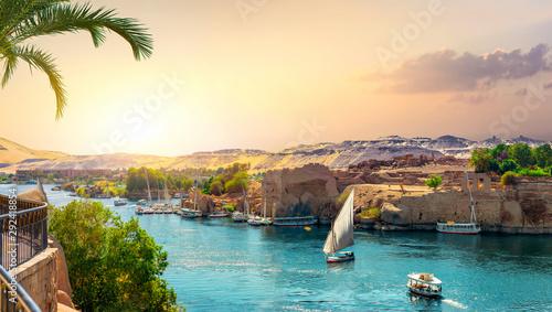 Canvas-taulu Panorama of Nile