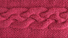 Pink Wool Yarn Knitted Texture...