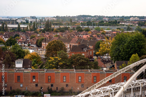 Photo Suburban areas view in North London, Wembley, London