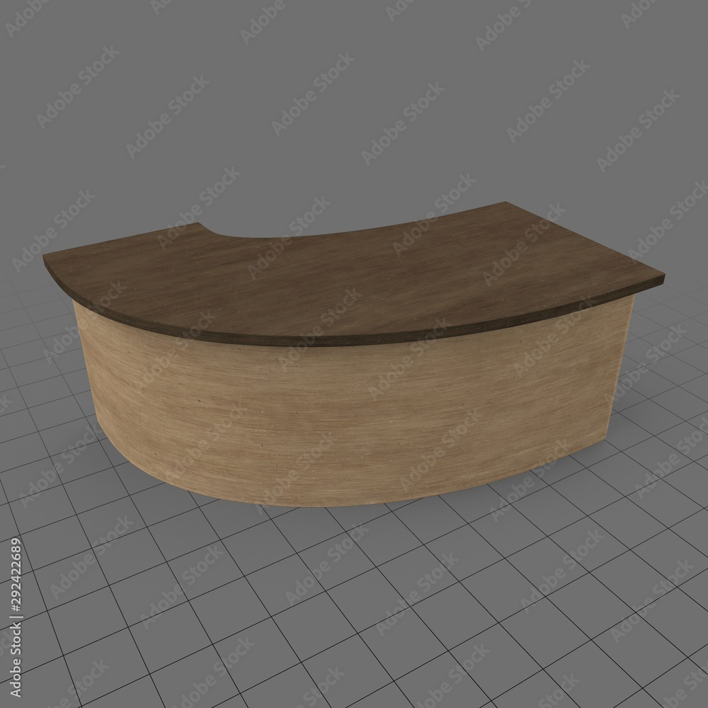 Fototapety, obrazy: Wooden reception desk