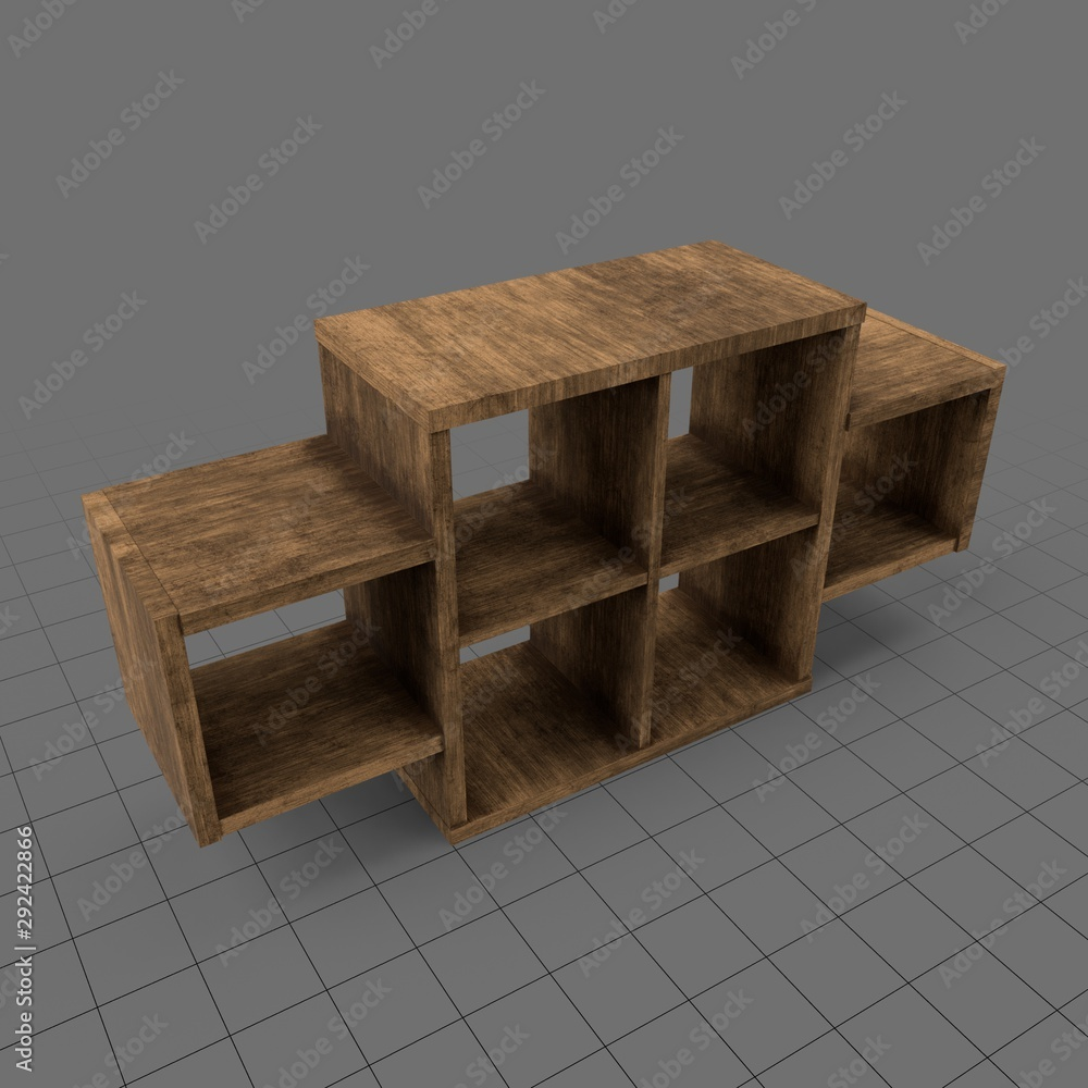 Fototapety, obrazy: Wooden bookcase
