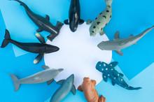 Plastic Toys Sea Animals Save The Ocean