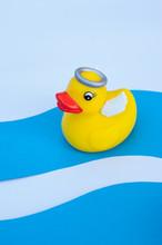 Plastic Toy Yellow Duck Angel