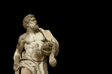 Ancient Statuue Of Hercules On...